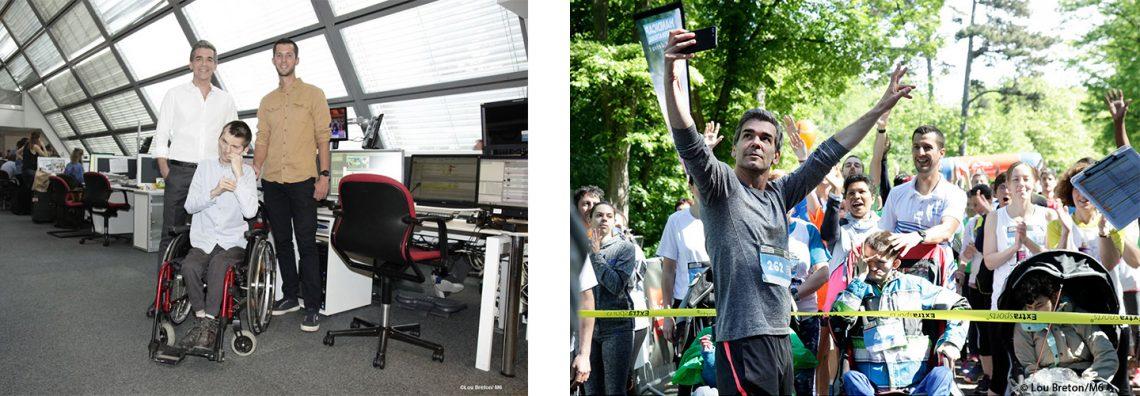 Xavier de Moulins participe à la course Sport Ensemble aux côtés de Théophile et Valentin