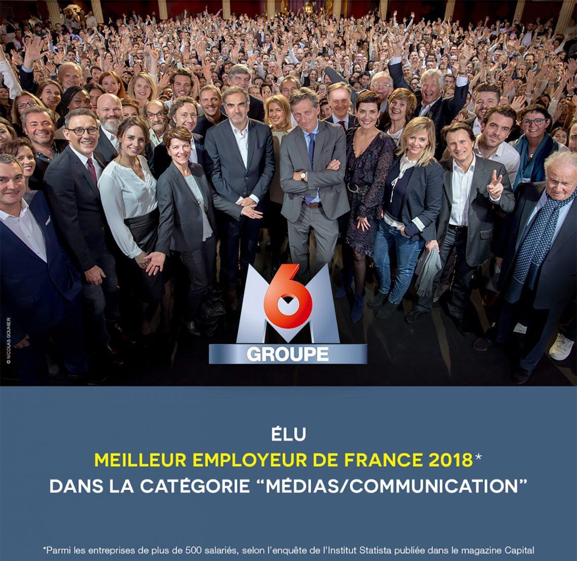 Le Groupe M6 est élu meilleur employeur de France
