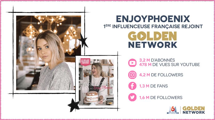 EnjoyPhoenix, 1ère influenceuse française rejoint Golden Network